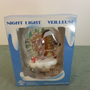 Ginger Bread Boy/House Christmas Night Light